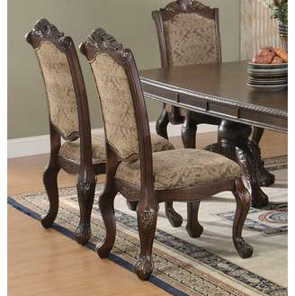 Coaster Company Andrea Traditional Side Chair Set of Two, Brown and Cherry