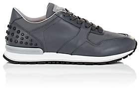 Tod's Men's Pebble-Detail Leather & Nylon Sneakers-Gray