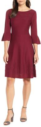 Nic+Zoe NIC + ZOE Illusion Twirl Cotton Blend Dress