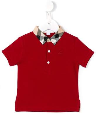 Burberry button down polo shirt