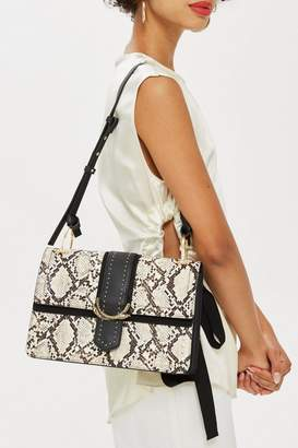 Topshop Snake Effect Shoulder Bag