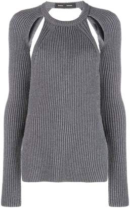 Proenza Schouler backless merino knit top