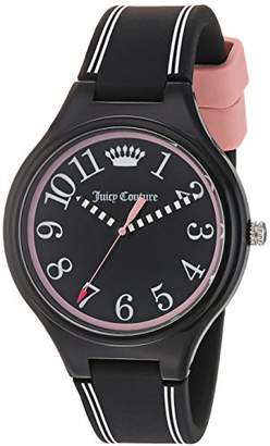 Juicy Couture Women's 'DAY DREAMER' Quartz Plastic and Silicone Casual Watch, Color:Black (Model: 1901562) $79 thestylecure.com