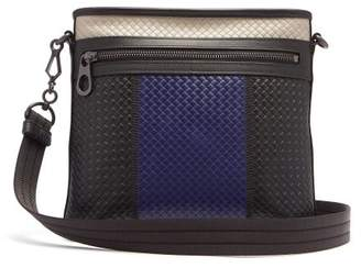 e201d8d288 Bottega Veneta Intrecciato Colour Block Leather Messenger Bag - Mens -  Black Multi