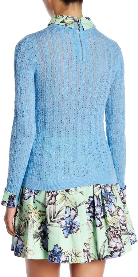 alice + olivia Nadie Slim Sweater Shirt 3