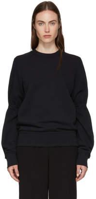 Ann Demeulemeester Black Sleeve Tie Sweatshirt