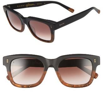 Women's Raen Gilman 52Mm Sunglasses - Matte Black/ Burlwood $170 thestylecure.com
