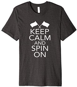 Keep Calm And Spin On Color Guard Winter Guard T-Shirt