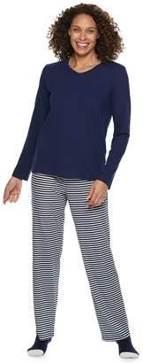 Croft & Barrow Petite Tee, Pants & Socks Pajama Set