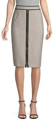 BOSS Modern Check Pencil Skirt