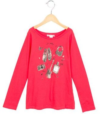 Bonpoint Girls' Long Sleeve Printed Top $65 thestylecure.com