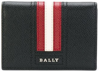 Bally striped billfold cardholder