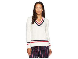 Lauren Ralph Lauren Petite Cable-Knit Cricket Sweater