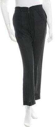 Yohji Yamamoto Silk Straight-Leg Pants w/ Tags $175 thestylecure.com