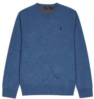 Polo Ralph Lauren Blue Merino Wool Jumper