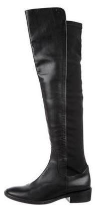 Max Mara Leather Over-The-Knee Boots