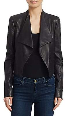 Theory Women's Paperweight Cowl Leather Jacket