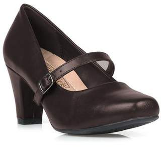Comfeite Women's Mary Jane High Heel Pump in Brown