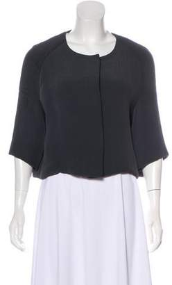 Marni Button-Up Short Sleeve Crop Top