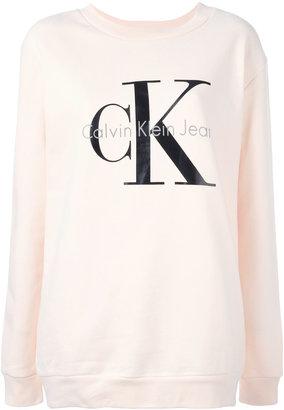 Calvin Klein Jeans logo print sweatshirt $98.95 thestylecure.com