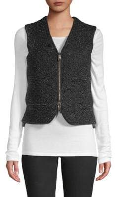 Valentino Textured Zip Vest