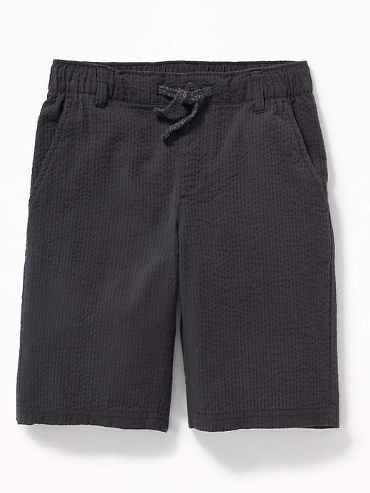 Slim Pull-On Seersucker Shorts for Boys