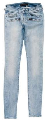Barbara Bui Low-Rise Zip-Accented Jeans