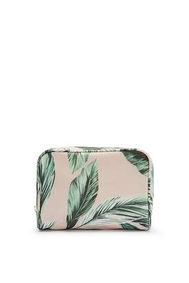 Country Road Leaf Print Medium Cosmetic Case