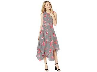 Calvin Klein Belted Handkerchief Dress