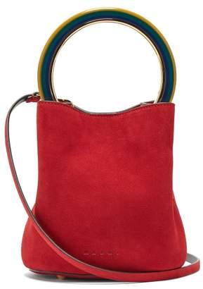 Marni Pannier Suede Bucket Bag - Womens - Red