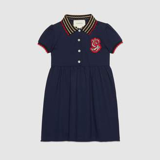 Gucci Children's cotton dress with G patch