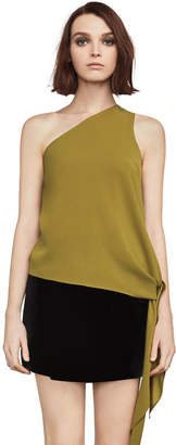 BCBGMAXAZRIA Cerise One-Shoulder Asymmetrical Top