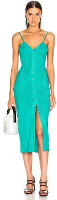 Fleur Du Mal Center Front Snap Jersey Dress in Monaco Green | FWRD