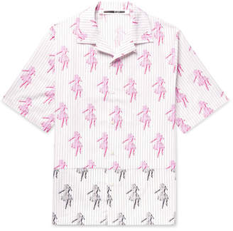 McQ Camp-Collar Printed Cotton Shirt