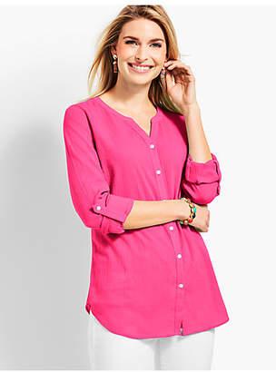 Talbots Soft Crinkle Gauze Shirt