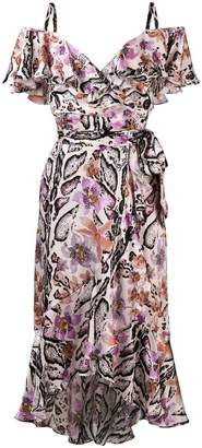 Temperley London floral print asymmetric hem dress