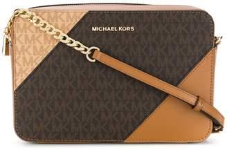 MICHAEL Michael Kors two-tone logo satchel bag
