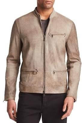 John Varvatos Collection Spray Dye Leather Moto Jacket