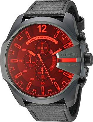 Diesel Men's 'Mega Chief' Quartz Stainless Steel and Leather Casual Watch
