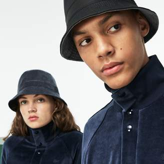 Lacoste Unisex Fashion Show Reversible Velour And Technical Canvas Bob