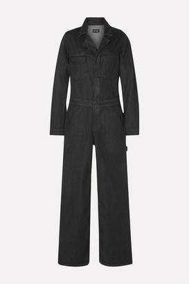 Eve Denim The Julie Denim Straight-leg Jumpsuit - Black