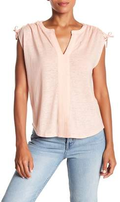 Lucky Brand Tie Up Shoulder Tee