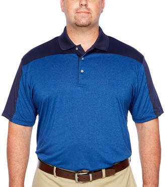 PGA Tour TOUR Mens Y Neck Short Sleeve Polo Shirt Big and Tall