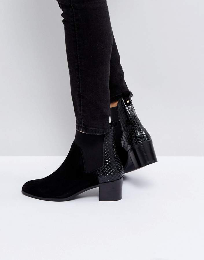 Dune Oprentice Heeled Ankle Boots