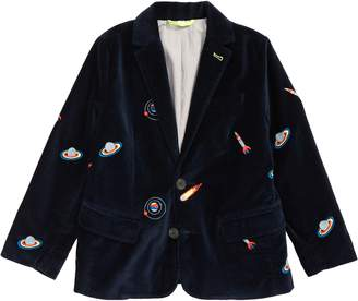 Boden Mini Party Embroidered Velvet Blazer