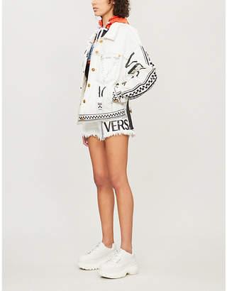 Versace Hooded denim jacket