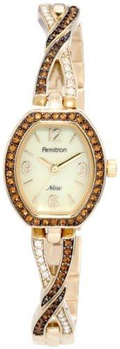 Swarovski Armitron Women's 75/4039CMGP Topaz Crystal Accented Bangle Bracelet Watch