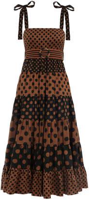 Zimmermann Juno Panelled Tie Dress