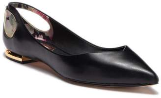 Ted Baker Dabih Leather Cutout Flat