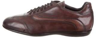 Santoni Round-Toe Low-Top Sneakers w/ Tags